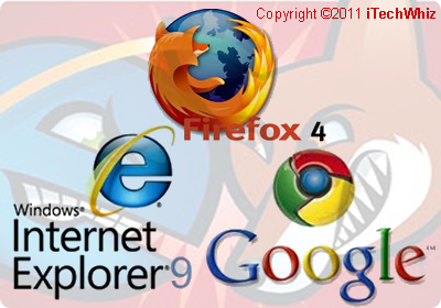 Mozilla Firefox 4 vs Microsoft Internet Explorer 9 vs Google Chrome 10