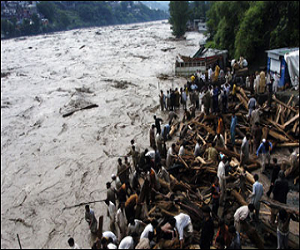 Flash flood triggered by torrential rain killed 13 people in  Azad Jammu and Kashmir