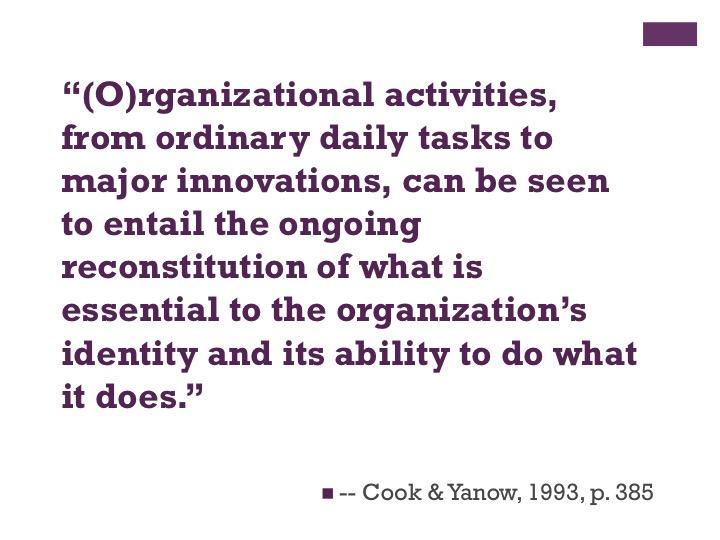 Principles of Organization - CommNet