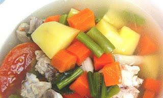 Resep Sayur Sop Ayam Gurih