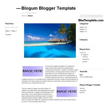 Blogum Blogger Template convert from wordpress theme to blogger. minimalist design blogger template. blogspot template 2 column