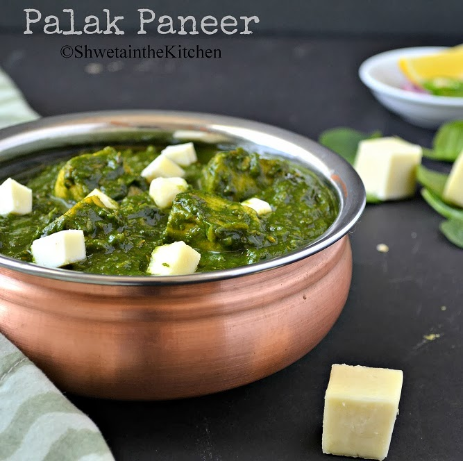 Shweta in the Kitchen: Palak Paneer - Spinach and Indian ...