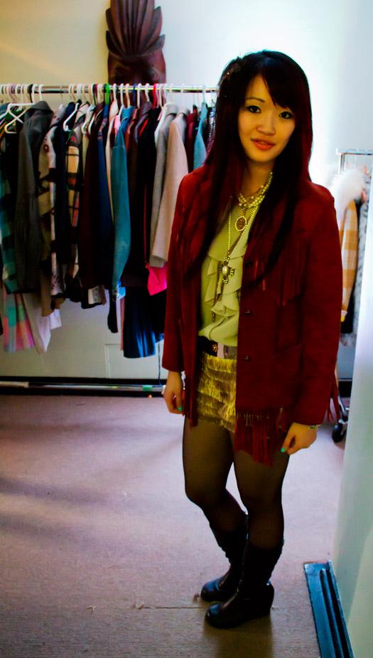 The Chosen Ones Vintage Sale, Waldorf, suede cowgirl fringe jacket, fringe jacket, cowgirl jacket, vintage suede jacket