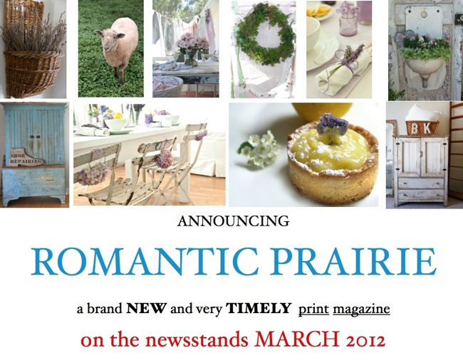 ~Romantic Prairie Magazine~ On Newstands April 2012~