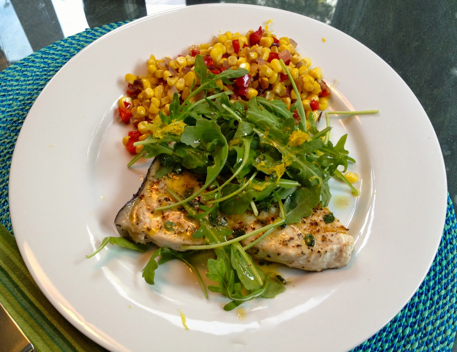 Amazing 5. When Ready To Serve, Place The Swordfish On Dinner Plates Or A Serving  Platter, Pile The Arugula On Top, Drizzle With The Sauce From The Fish, ...