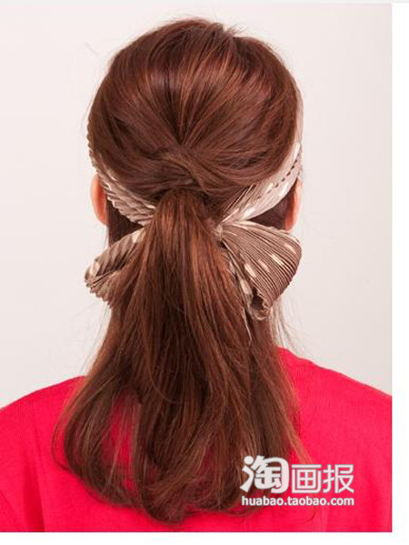 Ponytail Hairstyles 2012: HALF UPDO with scarf hair tie ...