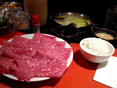 Shabuway Kobe beef dinner