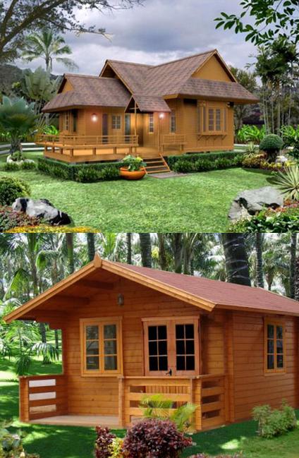 beberapa model rumah kayu modern desain rumah minimalis