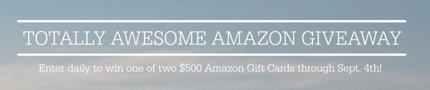 Current Giveaway: 2-$500 Amazon Gift Card Giveaway