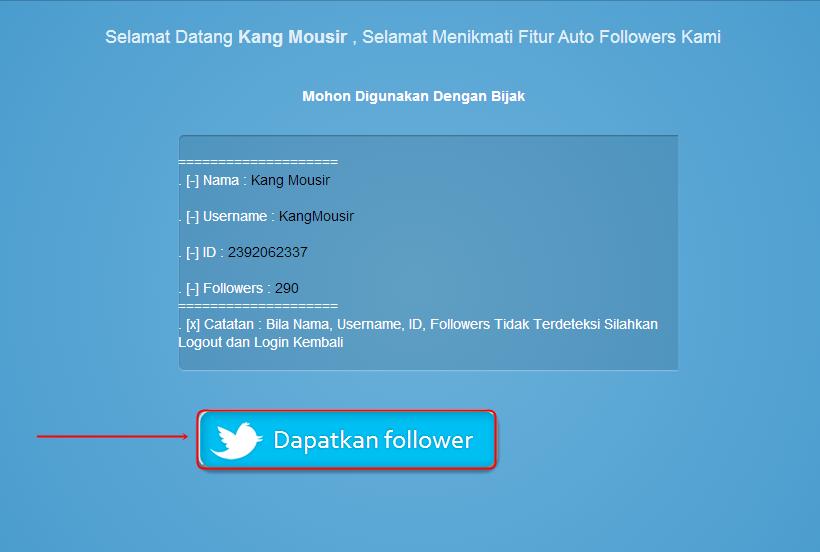 Dapatkan Follower Twitter