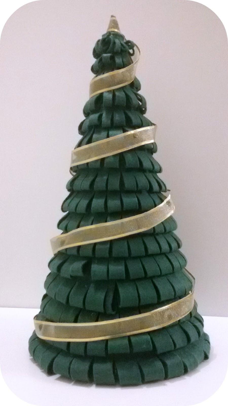 La casita de b hos rbol de navidad en fieltro tutorial - Arbol de navidad de fieltro ...