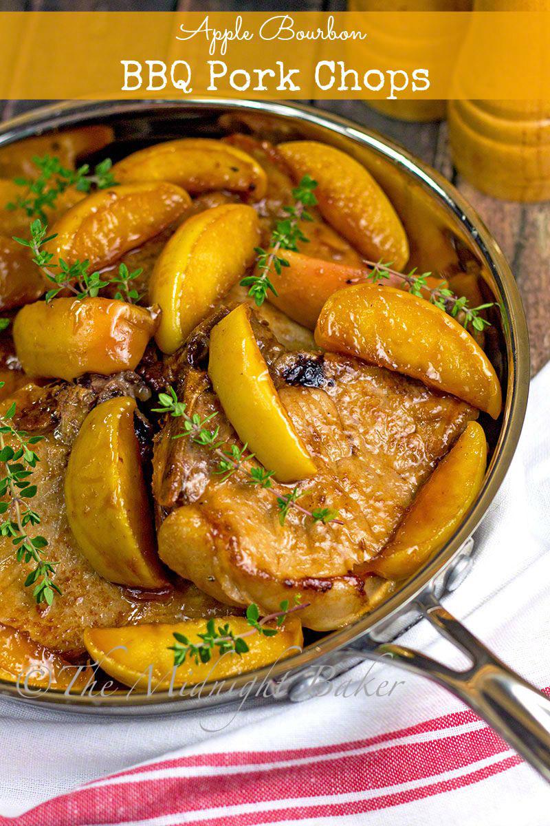 Apple Bourbon Bbq Pork Chops Bakeatmidnite Com Slowcooker Crockpot Pork