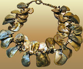 Multitone Khaki Shell Bold Necklace