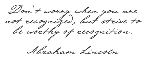 Worthiness Quote from Abraham Lincoln