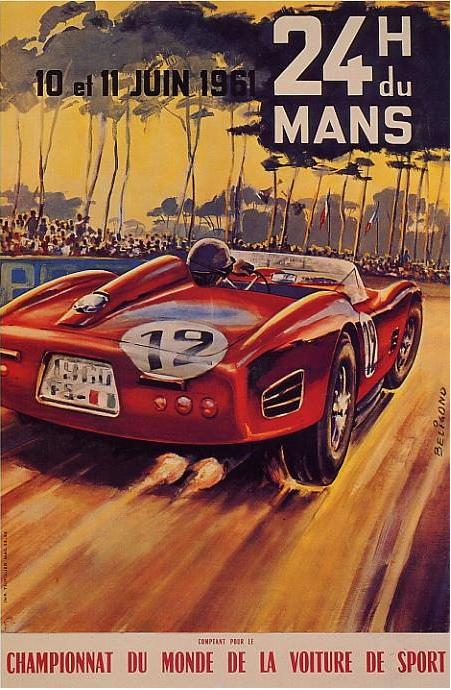 Affiche officielle des 24 Heures du Mans 1961