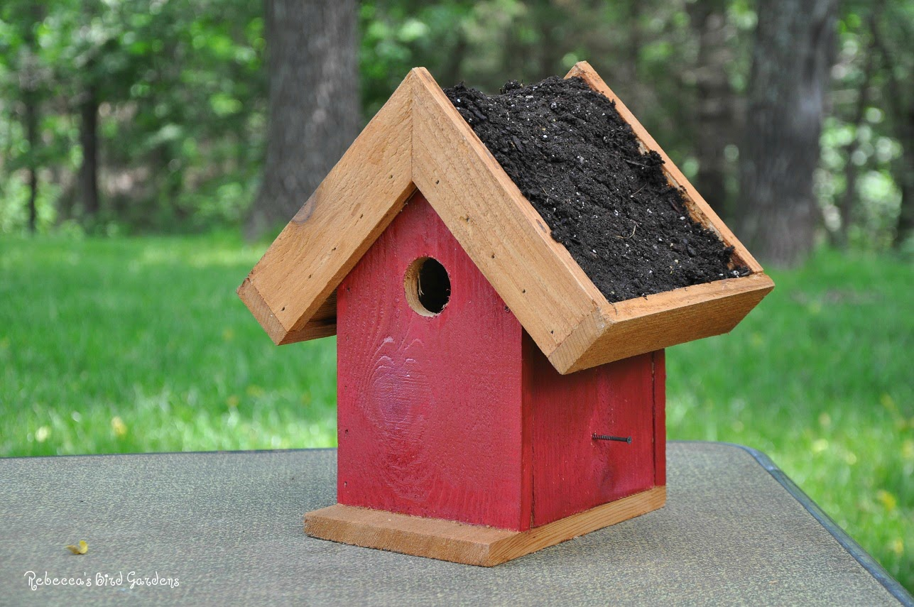 How to make a bird house - Place The Waterproofing Material Inside The Roof Floor Of The Birdhouse This Will Probably Already Be In Place I Add This Layer Of Protection Mostly To