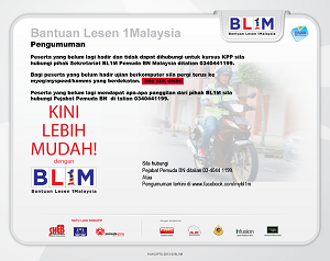 Bantuan Lesen BL1M
