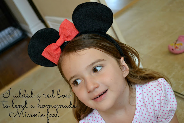 Mickey Mouse Ears from Birthday Express with DIY crepe paper bow #cbias
