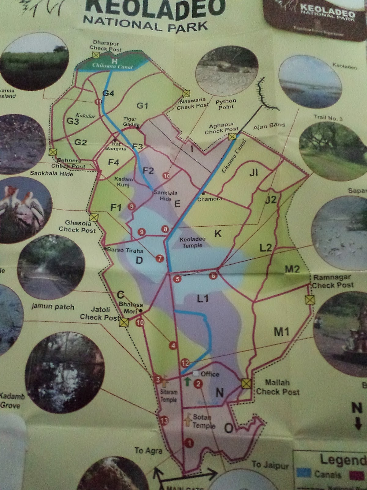 keoladeo national park map guide