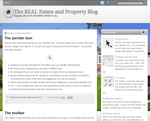 Real Estate Blogger Theme
