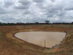Água das chuvas de novembro em barreiro