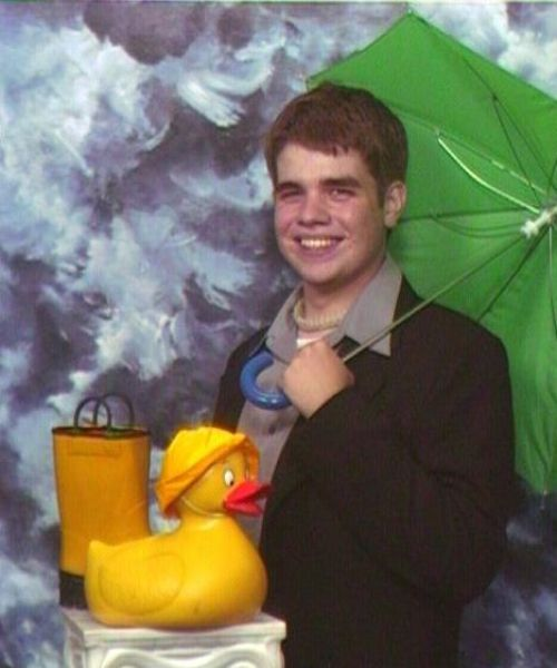 senior portrait, rubber ducky