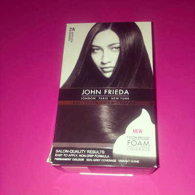 John Frieda Precision Foam Colour dye Luminous Blue Black 2A