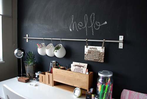 BOISERIE & C.: Pittura effetto Lavagna - Chalk Board Paint: 26 Idee