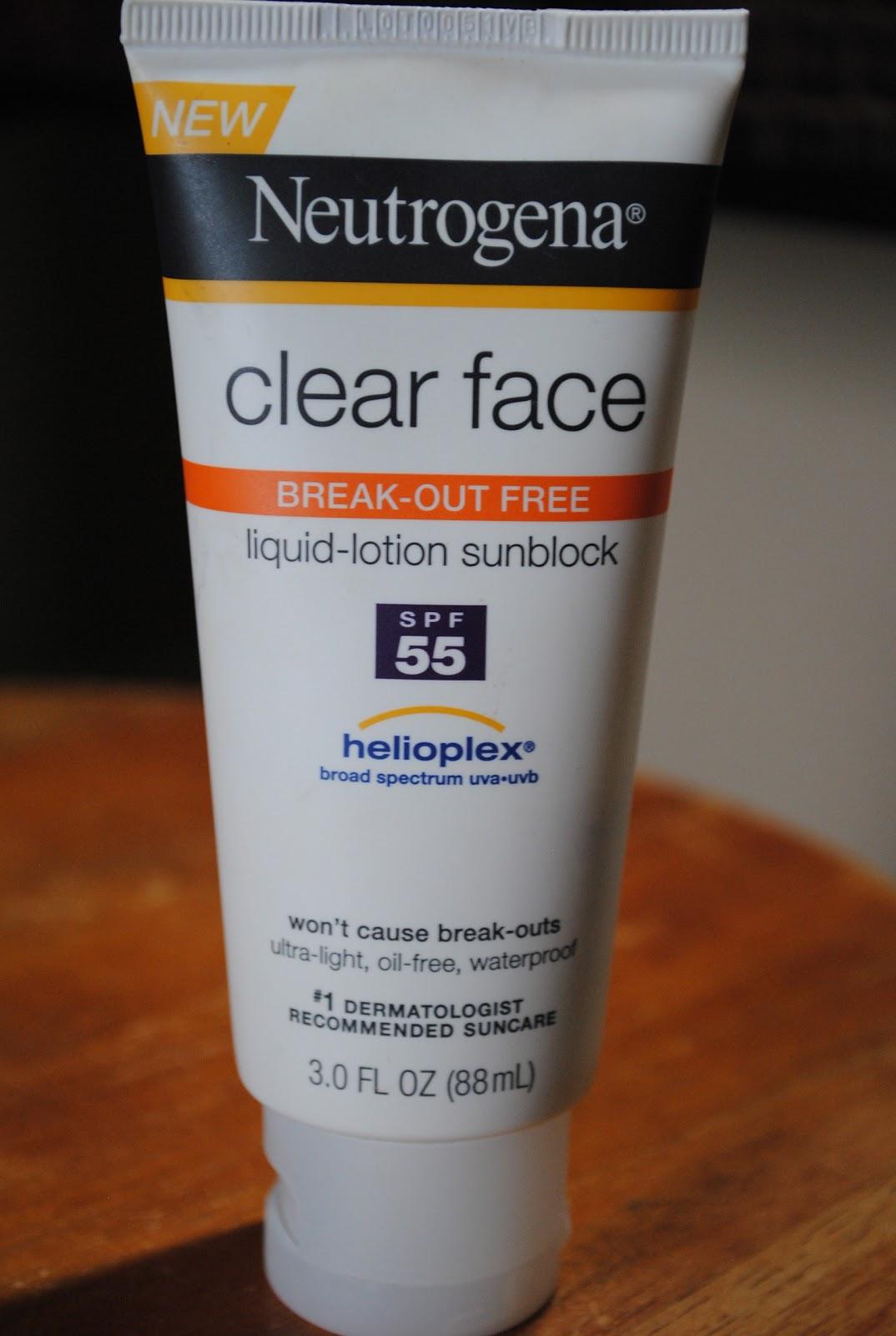 neutrogena clear face sunblock
