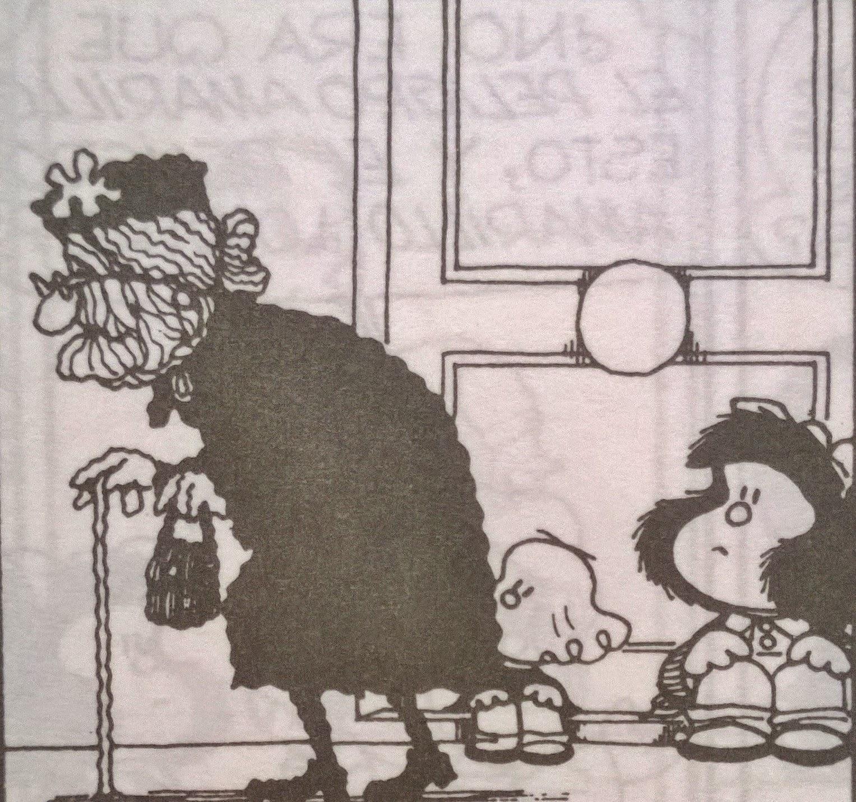 mafalda contempla lo que será