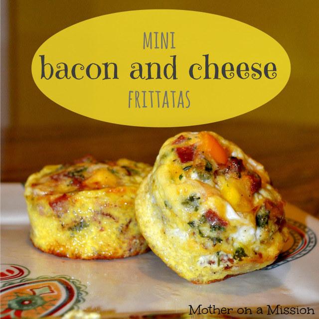 Mini Bacon and Cheese Fritatas - Mother on a Mission