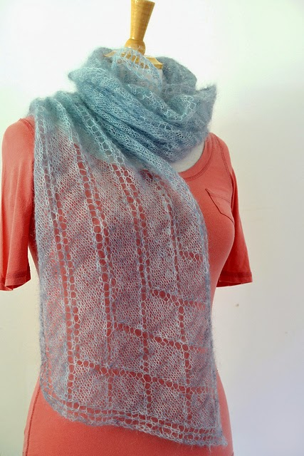 Rivelin mohair scarf pattern by Katya Frankel