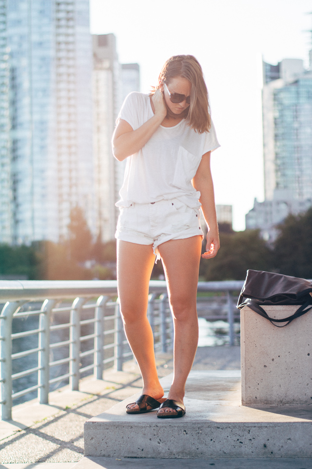An all white summer outfit on Canadian style blog, In My Dreams, by Jenaly Enns based in Vancouver.