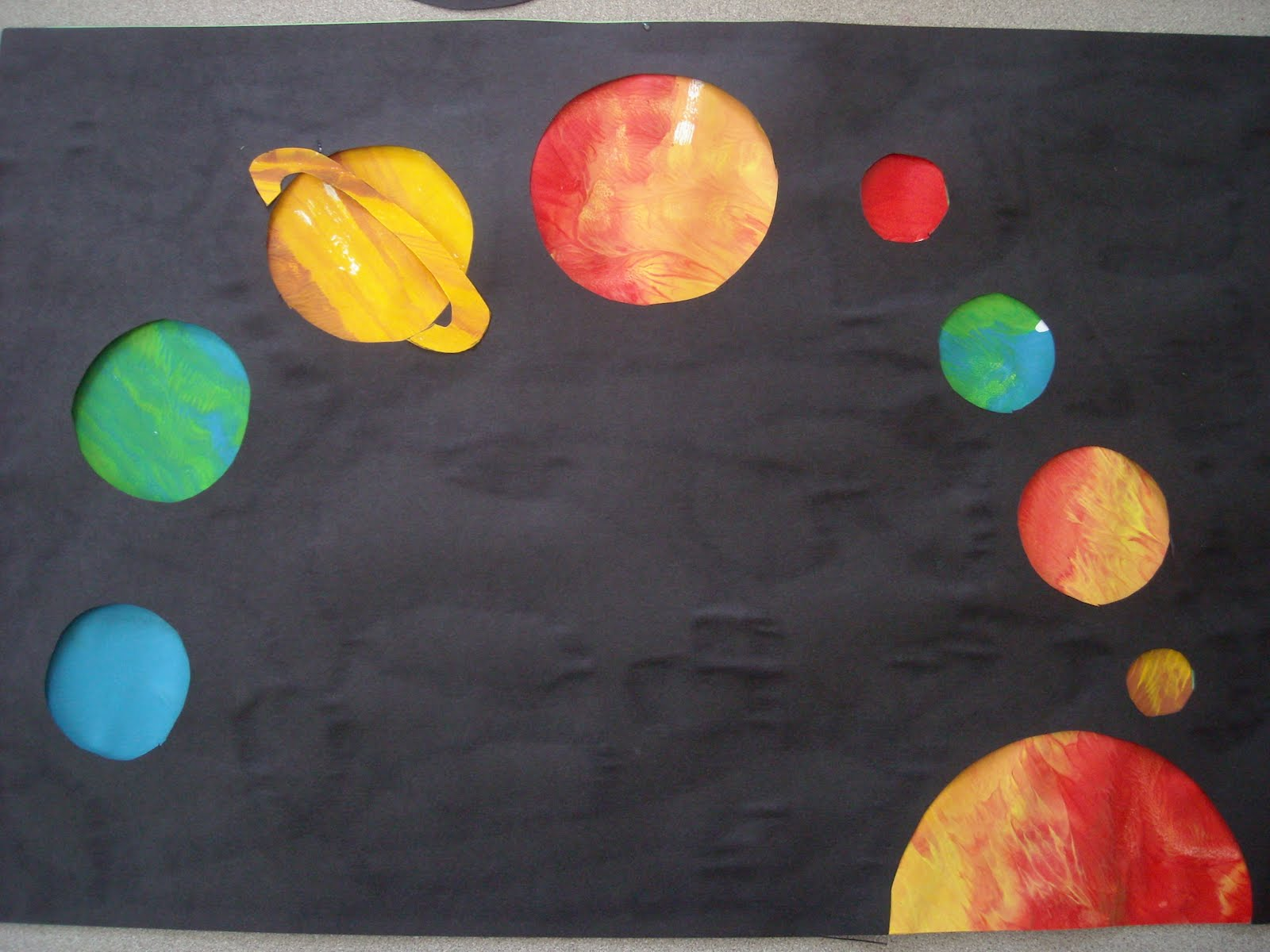 color planet saturn craft project -#main