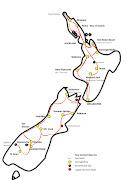 Tour Map New Zealand