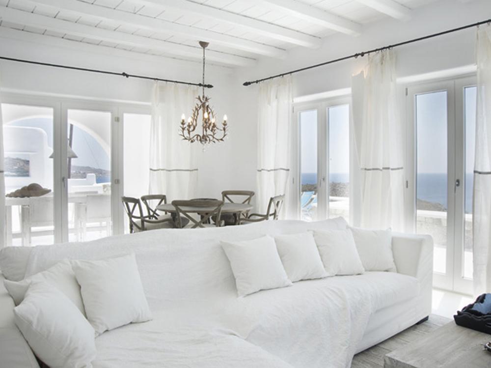 Een stukje griekenland in huis wonen maken leven - Kamer met balken ...