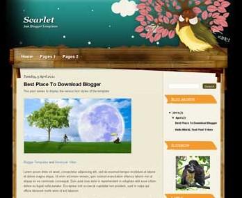 Scarlett Blogger Template