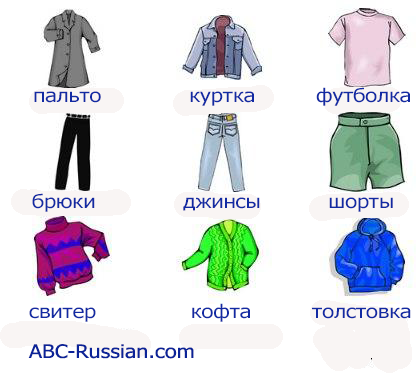 russian vocabulary clothes