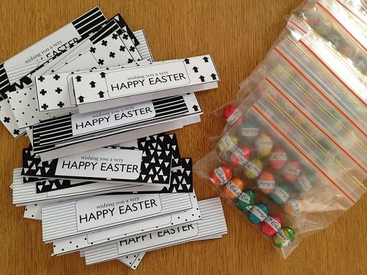 The little design corner homemade easter gifts diy bag toppers perfect gifts for the kids school friends the teachers your work colleagues party favours you name it negle Choice Image