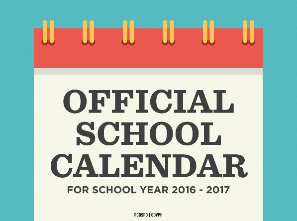 SCHOOL CALENDAR FOR SY 2018-2019