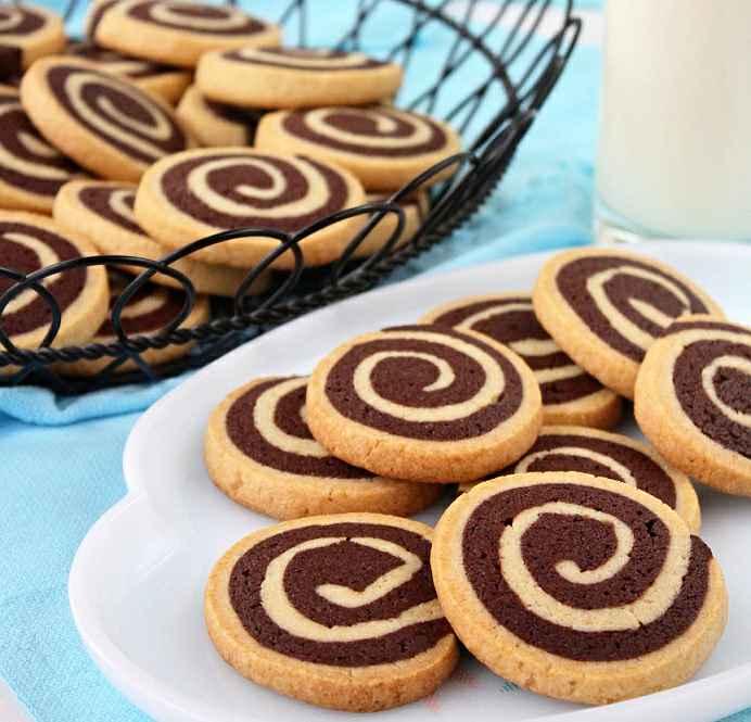 Chocolate Pinwheel Cookies Icebox Cookies