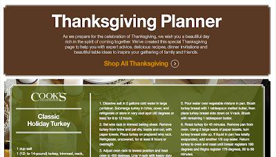 http://www.crateandbarrel.com/ThanksgivingPlanner