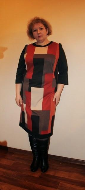 платье для полных из джерси