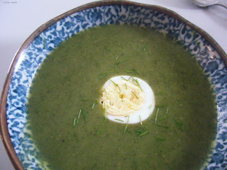 nettle soup boiled egg