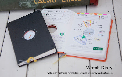 Agenda con reloj en el medio para organizar tu horario for Horario oficina naviera armas arrecife