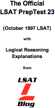 LSAT Blog PrepTest 23 October 1997 LSAT PDF