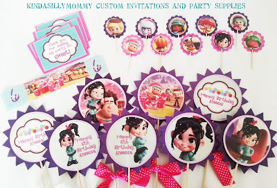 65kB, Vanellope Von Shweetz From Wreck It Ralph Invitations And Party