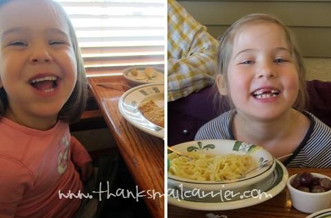 Olive Garden kids menu
