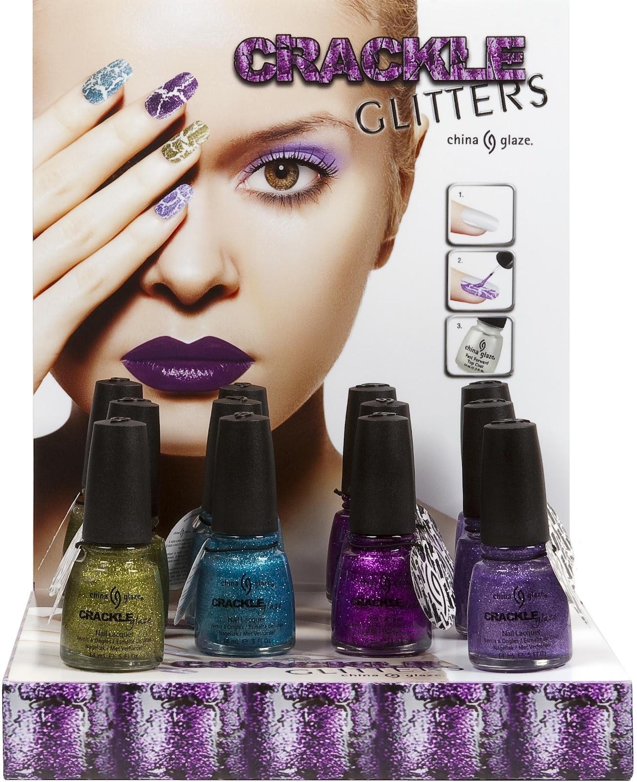 Hair amp nail choices aiibeauty - China Glaze Crackle Glitters