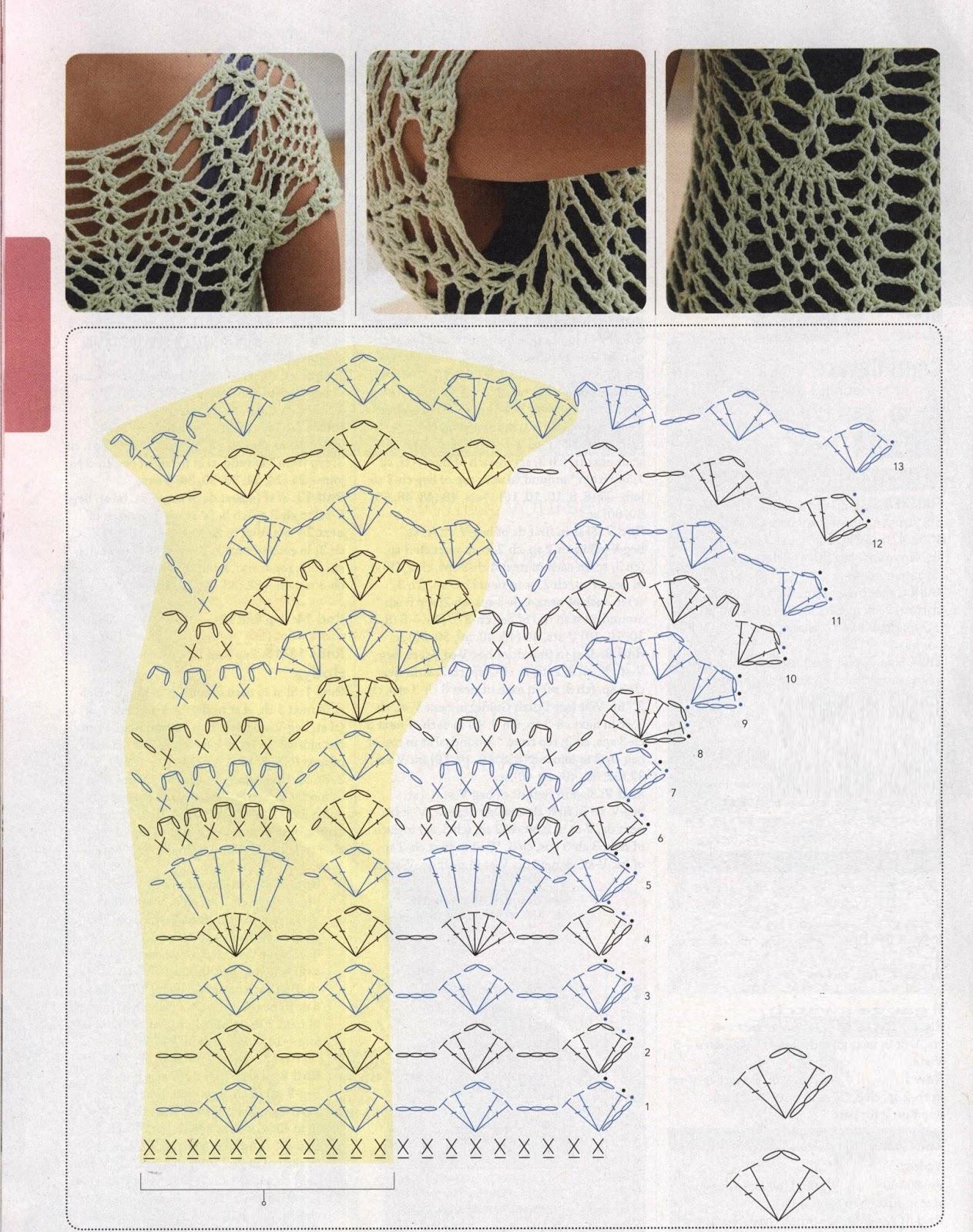 Crochet Jersey Stitch : stitch crochet crochet knitting 7 crochet dos crochet dress crochet ...
